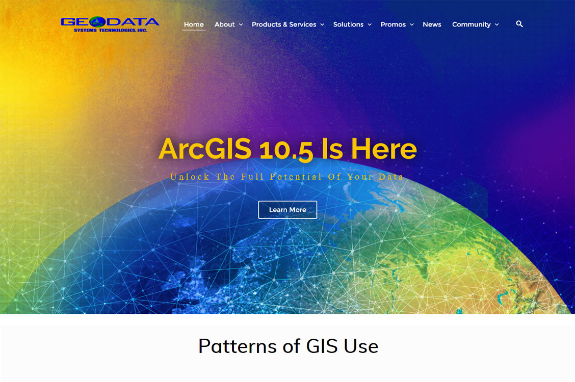 Geodata Geo Mapping services and solutions provider on Joomla