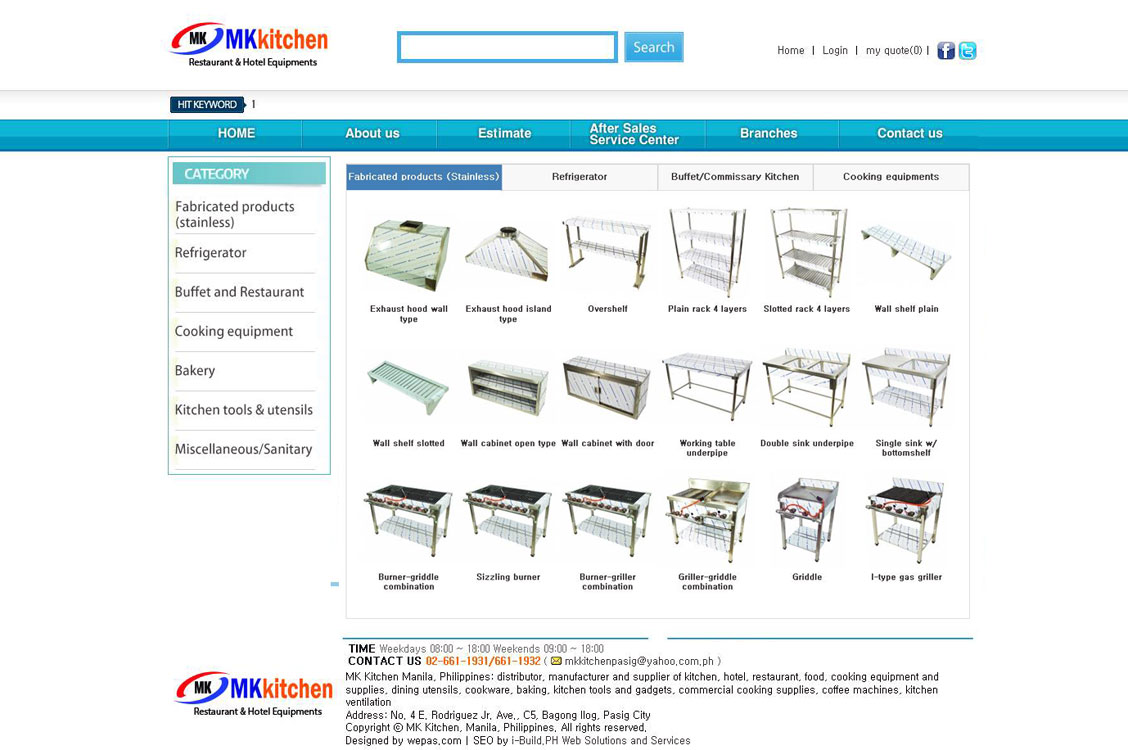 MK Kitchen equipment and supplies in Metro Manila
